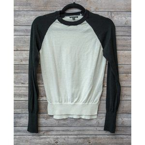 Who What Wear Black White Crew Neck Sweater XS